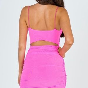 Hot pink mini dress from Princess Polly